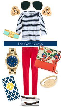 East Coast vs. West Coast: Striped Shirt