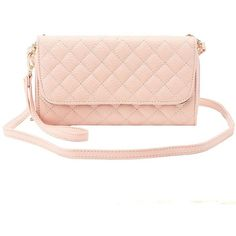 Charlotte Russe Quilted Detachable Strap Crossbody Bag ($16) ❤ liked on Polyvore featuring bags, handbags, shoulder bags, blush, quilted faux leather crossbody, zippered coin pouch, quilted crossbody, quilted shoulder bag and crossbody shoulder bags