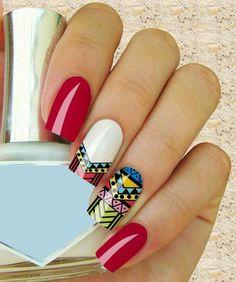 50 easy nail art designs for women 2015 Simple Nail Art Designs, Cute Nail Designs, Easy Nail Art, Great Nails, Simple Nails, Cute Nails, Hair And Nails, My Nails, Animal Nail Art