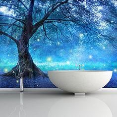 Mystical Fairy Tree Blue Enchanted Forest Kids Wall Mural... https://www.amazon.com/dp/B01FGHT8AE/ref=cm_sw_r_pi_dp_x_VVbvybTXKCN3R