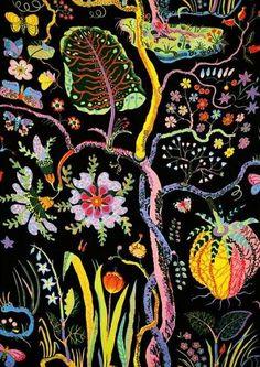 not Jacobean but great fabric design! 'Hawaii' Josef Frank Textile for Svenskt Tenn