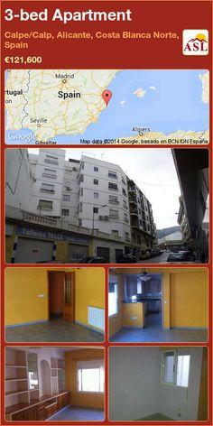 3-bed Apartment in Calpe/Calp, Alicante, Costa Blanca Norte, Spain ►€121,600 #PropertyForSaleInSpain