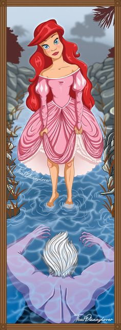 "Artist Laura Knighton a.k.a. That Disney Lover has created a fun set to Disney princess art that was inspired by the stretch portraits that we see in the Haunted Mansion at the Disneyland theme parks. The set is called the ""Phantom Manor Stretch Portrait Series."" Like the original paintings, everything looks happy and peaceful on the top, but the lower you go the more menacing the image becomes. Via: Boing Boing"