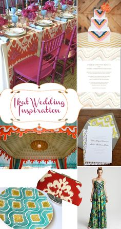 Ikat wedding inspire!