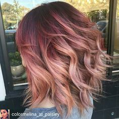 23 Examples of Gorgeous Red Ombré Hair Hair Color And Cut, Cool Hair Color, Cabelo Rose Gold, Hair Colors Rose Gold, Rose Gold Bayalage, Rose Gold Short Hair, Magenta Hair Colors, Rose Gold Ombre, Fall Hair Colors