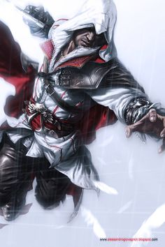 Assassins Creed Discover Ezio Auditore da Firenze by Atzinaghy on DeviantArt Assassins Creed - Alessandro Giovagnoli Arte Assassins Creed, Assasins Cred, All Assassin's Creed, Assassian Creed, Assassin's Creed Brotherhood, Video Game Art, Game Character, Deadpool, Videogames