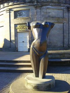 Sculpture outside Fergusson Gallery in Perth, Scotland
