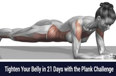 Tighten Your Belly in 21 Days with the Plank Challenge |