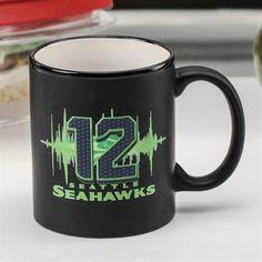 6410c540f5d Seattle Seahawks Black 11oz. C-Handle Mug
