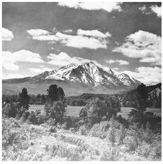 Mount Sopris near Glenwood Springs, CO
