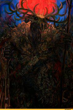 TES art,The Elder Scrolls,фэндомы,Хирсин,Лорды Даэдра,TES Персонажи,Radishez