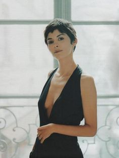 Audrey: LBD.  Her hair is fantastic here, short hair makes her look even more feminine.