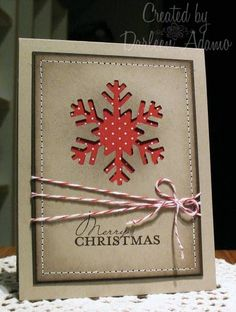 simple Christmas card but so pretty