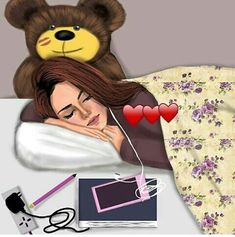 Shared by ~Ä F Ï F Ä ~. Find images and videos about girly and sleeping beauty on We Heart It - the app to get lost in what you love. Beautiful Girl Drawing, Cute Girl Drawing, Cartoon Girl Drawing, Cartoon Art, Cute Girl Wallpaper, Cute Disney Wallpaper, Cartoon Wallpaper, Girly M, Cartoon Girl Images