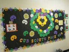 Cub scouts bulletin board