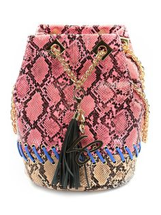 9d9af2965e La Carrie Bag - Borse - Accessori - Secchiello in eco pelle stampa pitone  con catemna