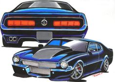 Another 1971 Ford Maverick post. Ford 351, Car Ford, Ford Maverick, Hot Wheels, Mavericks Logo, Ford Mustang Eleanor, Vanz, Custom Muscle Cars, Car Posters