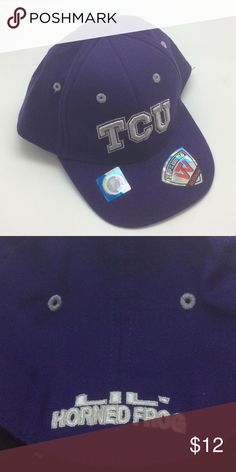 lowest price a5c8c 8a45b New NCAA TCU Horned Frog Infant Fitted Cap, OSFM Officially licensed NCAA  TCU Horned Frogs