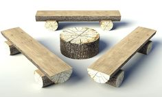 Reutiliza los troncos de árboles para decorar el hogar