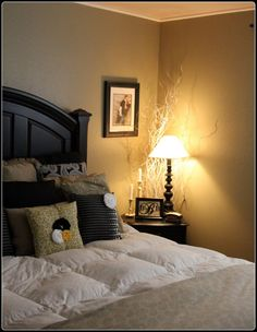 bedroom decor - what it will look like to have black furniture