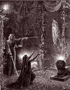 Supposedly representing Moina and MacGregor Mathers in Rites of Isis a  Hermetic Order of the Golden Dawn ritual