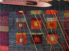 Morgan Clifford... linen on gauze wove on tapestries