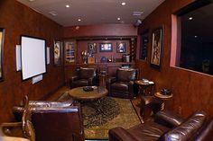 home lounge designs | Above >> home cigar lounge design. Photo via Rose Garden Office .