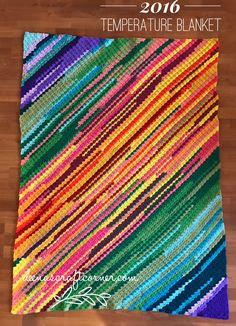 Discover thousands of images about 2016 Temperature Blanket - Final Crochet C2c, Afghan Crochet Patterns, Crochet Afghans, Crochet Crafts, Crochet Stitches, Crochet Projects, Free Crochet, Knitting Patterns, Blanket Crochet