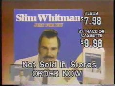 """Slim Whitman Just For You 1980 Album Commercial 1980 commercial for Slim Whitman's """"Just For You"""" album"""