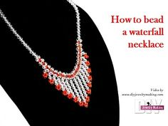 How to bead a waterfall necklace by DIY Jewelry Making - YouTube
