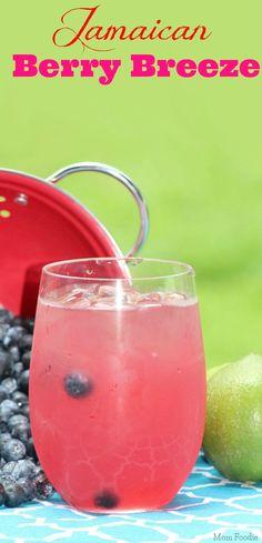 Jamaican Berry Breeze Cocktail (includes virgin version)