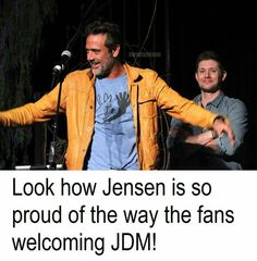 Fans welcome JDM! SPN love. I would scream so hard they would throw me out of there lol!!