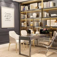 Executive Home Office Design 50 Ideas Law Office Decor, Chic Office Decor, Home Office Space, Office Workspace, Home Office Design, House Design, Clinic Interior Design, Medical Office Design, Office Interiors