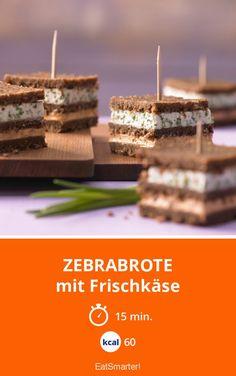 Zebrabrote - mit Frischkäse - smarter - Kalorien: 60 kcal - Zeit: 15 Min. | eatsmarter.de