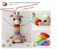 Best 12 PATTERN in English Crochet giraffe Amigurumi toy Tutorials Crochet Baby Toys, Crochet Toddler, Crochet Bunny, Love Crochet, Crochet Gifts, Crochet Animals, Baby Knitting, Crochet Motifs, Crochet Patterns Amigurumi