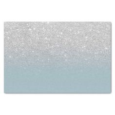 Shop Modern silver glitter sparkles ombre dusty blue tissue paper created by girly_trend. Blank Business Cards, Custom Tissue Paper, Glitter Gifts, White Elephant Gifts, Dusty Blue, Silver Glitter, Small Gifts, Sparkles, Art Pieces