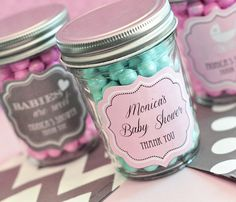 Shabby Chic Baby Shower Favors Shabby Chic Mason Jar by ModParty