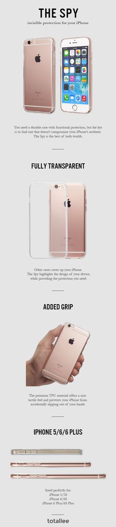 You need a durable case with functional protection, but the key is to find one that doesn't compromise your iPhone's aesthetic. The Spy is the best of both worlds.