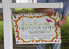 DIY Studio Sign   Retail Signage Tutorial   Outdoor Sign Display   Fantasy Photography, llc