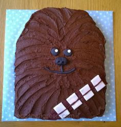 Easy Chewbacca birthday cake   Eggshell Green