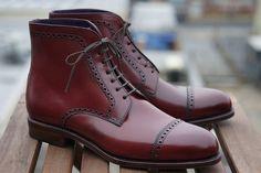 Carmina for Epaulet - Bradbury Boot in Ruby Shell Cordovan