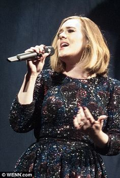 Not one to disappoint: Rather than perform new songs, Adele powered through tracks from all three of her smash hit albums, 19, 21 and 25