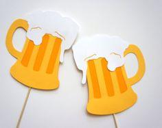 Photo Booth accessoires - Set de 2 accessoires de stand Photo chope de bière - Fun Photobooth Props