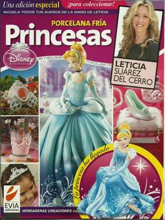 Genuine Porcelain China Made In Japan Info: 8737797596 Magazine Crafts, Debbie Brown, Polymer Clay Disney, Princess Party, Disney Princess, Spanish Projects, Project Steps, Cake Banner, Persona