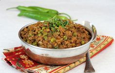 Among Indian non veg recipes, Keema Matar is a gem. Mincemeat green peas curry is a spiced North Indian style dish that goes well with pulao, rice or roti.