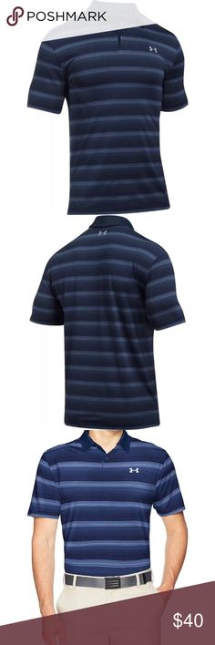 Under Armour XXL CoolSwitch Men's Golf Polo NWT Under Armour XXL CoolSwitch Bermuda Stripe Polo Shirt Mens Golf Polo NWT MSRP $74.99 Under Armour Shirts Polos