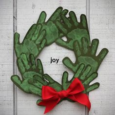 Handprint Christmas Wreath - You know Grandmas will love!