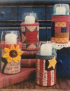 Quilted fabric covered cans