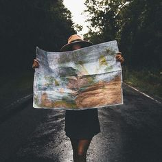 travel, girl, map