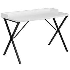 Offex Computer Desk, White